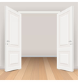 double white open door in living room vector image vector image