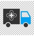 Drone Delivery Van Eps Icon vector image vector image