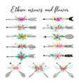 ethnic arrows and flower vector image vector image