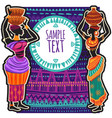 ethnic background design for poster card vector image vector image
