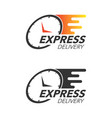 express delivery icon concept watch icon for vector image vector image