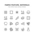 fabric feature clothes material flat line vector image vector image