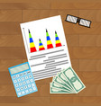 finance infographic planning vector image vector image