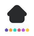 flat home icon for web page design vector image vector image