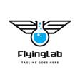 flying lab logo vector image