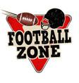 football zone vintage rusty metal sign vector image vector image