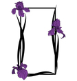 frame with irises vector image vector image