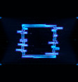 futuristic hologram hud square shape with neon vector image vector image
