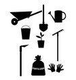 garden tools and equipment clipart for design vector image vector image