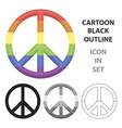 gay icon cartoon single gay icon from the big vector image