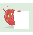 Good red furry monsters 4 vector image