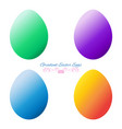 gradient easter eggs set vector image