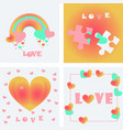 greeting card of hearts vector image vector image