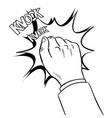 hand knokning door coloring book vector image vector image