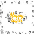 happy easter gold greeting postcard vector image