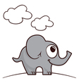 Happy elephant vector image vector image