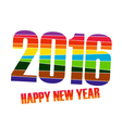 Happy new year 2016 creative colorful random paper vector image vector image