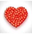 Heart shape of hearts Valentine holiday vector image vector image