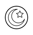 islamic icon crescent star icon- iconic design vector image