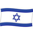 israel flag graphic vector image vector image