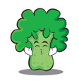 kissing smile eyes broccoli chracter cartoon style vector image vector image