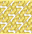 lemon seamless pattern geometric background for vector image vector image