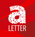logo letter A on a red background vector image vector image