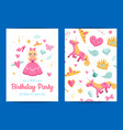 magic and fairytale birthday party vector image vector image