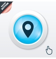 Map pointer icon GPS location symbol vector image vector image