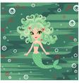 Mermaid cartoon vector image vector image