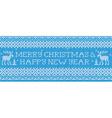 Merry Christmas Happy New Year Scandinavian style vector image vector image