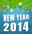 new year2014 under tree vector image