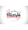 nicosia welcome to word text with handwritten vector image vector image