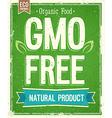 No GMO vector image vector image