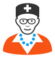 old nurse icon vector image