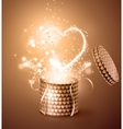 Opened gift-box with hearts vector image