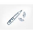 pencils one line isolated design element vector image