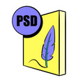 psd file icon cartoon vector image