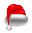 realistic christmas santa claus red hat vector image vector image