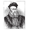 robert dudley earl of leicester vintage vector image vector image