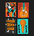 rock music festival poster vector image vector image