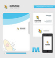 rocket business logo file cover visiting card and vector image vector image