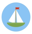 Sailing ship icon flat style vector image