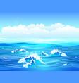 sea flat vector image
