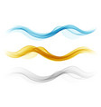 set abstract wavy colored elementswave flow vector image vector image