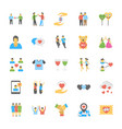 set friendship flat icons vector image vector image