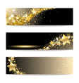 Set of Banners with Gold Stars vector image vector image