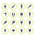 Set round icons of plugs and connectors vector image vector image
