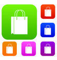 shopping bag set collection vector image vector image