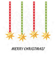 simple christmas card design in flat style vector image vector image